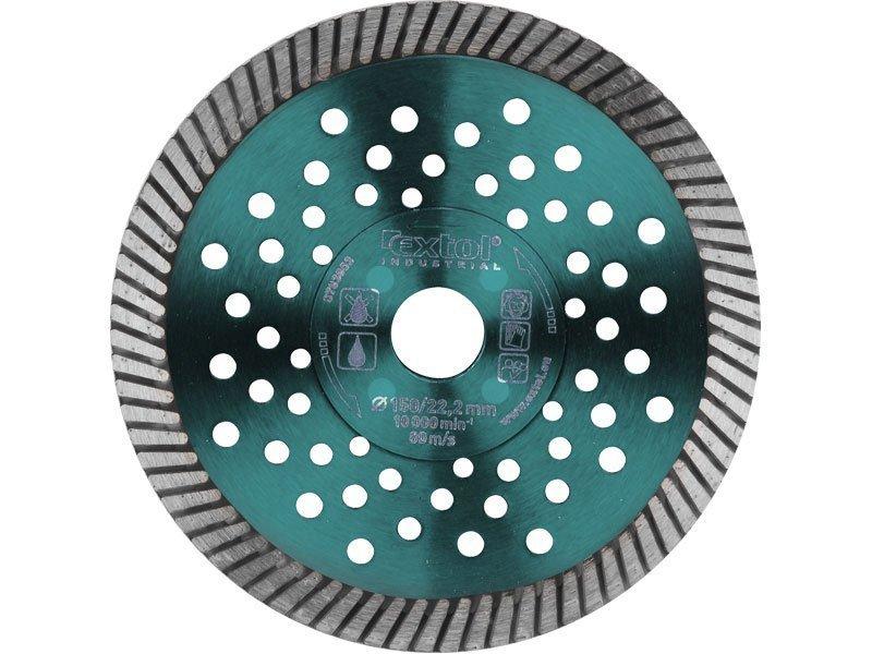 Kotouč diamantový řezný turbo Fast Cut, 230x22,2mm, suché i mokré řezání, EXTOL INDUSTRIAL
