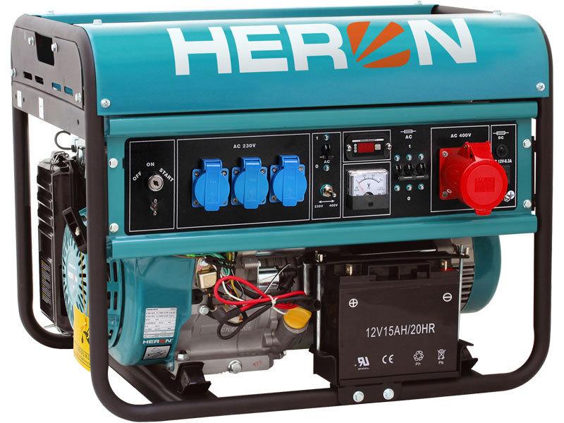 Elektrocentrála benzínová 15HP, elektr. start, 6,8kW (400V)/5,5kW (230V), záruka 3 roky HERON