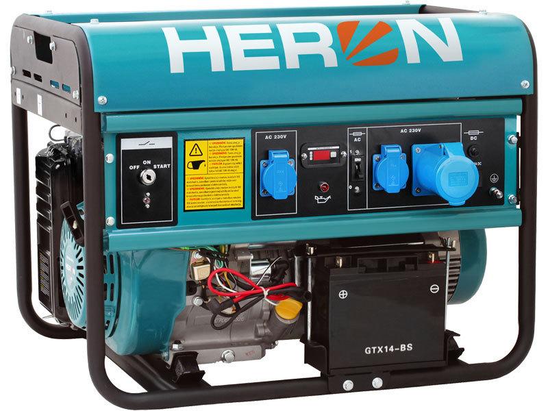 Elektrocentrála benzínová 15HP, elektrický start, 7,0kW, EGM 68 AVR-1E, záruka 3 roky HERON