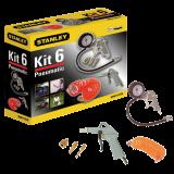 6 ks - kit box Ofukovací pistole - Hustící pistole - Souprava 3 hustících nástavců - spirálová hadice (5 m)