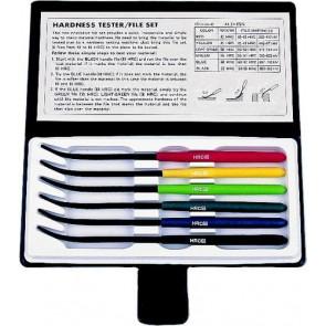 Pilníky jehlové pro měření tvrdosti v sadě 6 ks