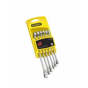 6dílná sada leštěných očkoplochých klíčů Stanley 4-94-646