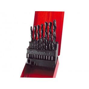 Vrtáky do kovu v kovové krabičce, sada 25ks, Ř1-13mm, po 0,5mm, HSS
