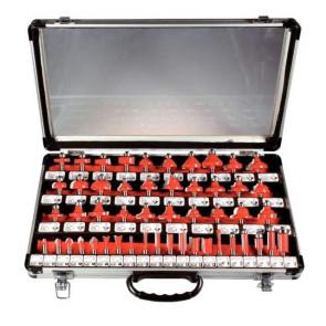 Sada profilových fréz - 50 ks v hliníkovom kufri