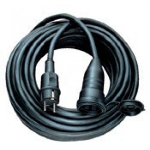 Kabel s vidlicí a volnou zásuvkou 230V / 16A / IP44 - 25m