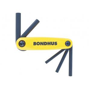 Kapesní sada imbusových klíčů 5/32 - 3/8 inch Gorilla Grip inch velká BONDHUS