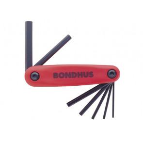 Kapesní sada imbusových klíčů 2,0 - 8,0 mm Gorilla Grip metric střední BONDHUS