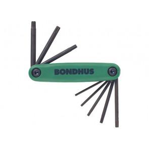 Kapesní sada Torx klíčů T6 - T25 Gorilla Grip malá BONDHUS