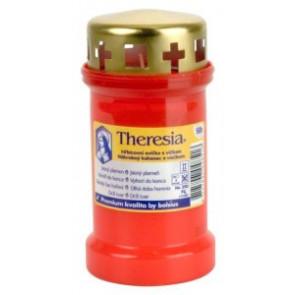 Theresia víčko 170g 50h. červená litá