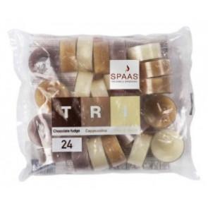 Spaas Čajové 24ks Tri White Cake Vanilla vonné svíčky