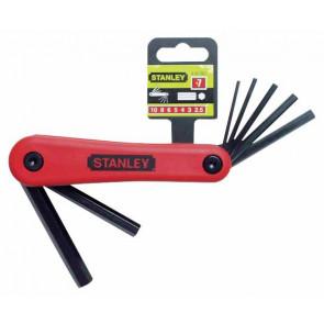 Nožové sady metrických zástrčných šestihranných klíčů Stanley 4-69-262