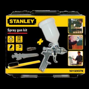 Gravimetrická stříkací pistole - sada v kufříku gravimetrická stříkací pistole - 0,6 l nylonová nádoba, rychlospojka, tryska s ø 1,4 mm