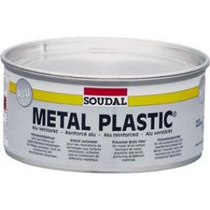 Soudal Metal Plastic Alu 2kg - polyesterový tmel s hliníkovým plnivom odolávajúce vybráciam