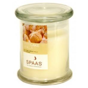 Spaas Sklo 90x110 White Cake Vanilla s víčkem vonná svíčka