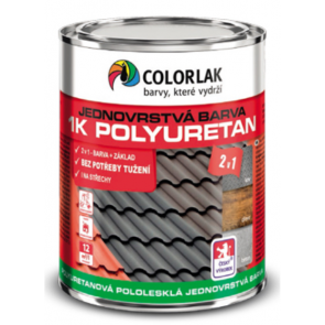 Colorlak 1K POLYURETAN U2210 RAL 9005 černá - 0,6 L