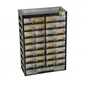Allit 458120 Skříňka na malé části VarioPlus Basic 54, černá / žlutá