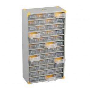Allit 465520 Kovová skříňka na drobné díly VarioPlus Metall 73, stříbrný