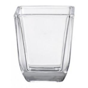 Svícen sklo 58x65mm čirý na hranatý votiv