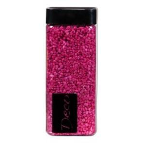 Štěrk 550ml dekorativní 2-3mm 825g tmavě růžová