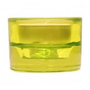Svícen sklo 57x83 svěží zelený na mal./velkou čajovou svíčku
