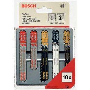 Bosch 2607010148 10dielna sada pílových listov na drevo, kov