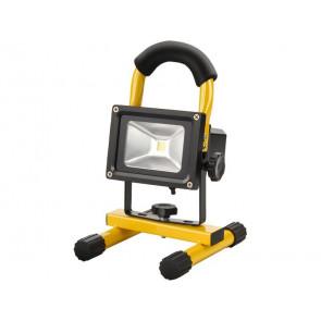 Reflektor LED 10W, nabíjecí, s podstavcem, 10W, 800lm, denní světlo, IP65, Li-ion