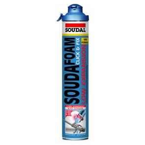 Soudal - Soudafoam Gun Low Expansion Click & Fix montážna pena 750ml