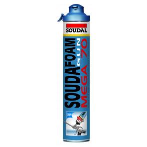 Soudal - Soudafoam Gun MEGA Click & Fix montážna pena 870ml polyuretánová