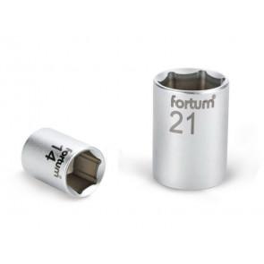 """Hlavice nástrčná, 1/2"""", 21mm, L 38mm, 61CrV5, FORTUM"""