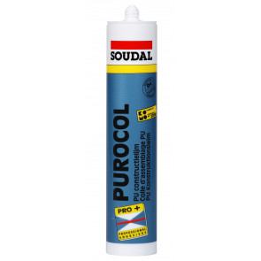 Soudal Purocol 310ml polyuretánové lepidlo transparentné a vodevzdorné D4