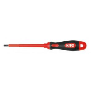 Šroubovák elektrikářský plochý, (-) 5,5x125mm, 61CrV5, KITO