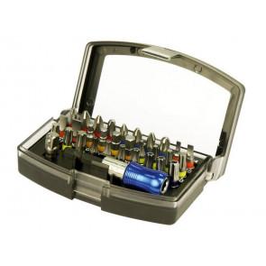 "Hroty, sada 32ks, magnetický držák hrotů Flix-Clip 65mm, adaptér 1/4"", S2, KITO"