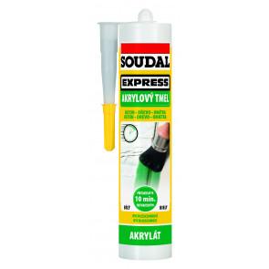 Soudal Express Akrylový tmel 300ml pretierateľný už po 10 minutách od aplikácie
