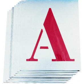 Šablony písmen ocelové 60 mm / 26ks / A - Z