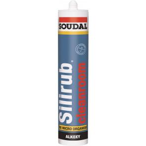 Soudal SILIRUB CLEANROOM biely 310ml neutrálny elastický silikón do priestorov s vysokými nárokmi hygienickú čistotu