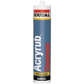 Soudal Acryrub CLEANROOM 310ml šedý akrylový tmel do priestorov s dôrazom na čistotu prostredia