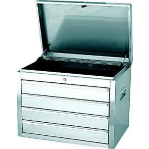 Box na náradie z nerezovej ocele s 4 zásuvkami 673 x 470 x 513 mm
