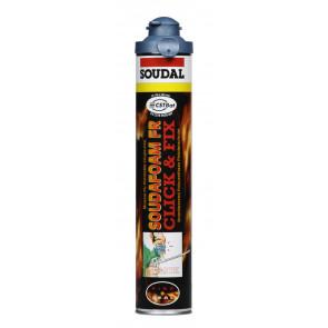 Soudal - Soudafoam FR-B1 Click & Fix montážna pena 750ml protipožiarne