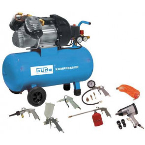 GÜDE 400/10/50 DG kompresor + 15-dílná sada