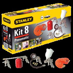 8 ks - kit box Ofukovací pistole - Hustící pistole - Sprejovací nástavec - Gravimetrická stříkací pistole 1/2 L. Sada 3 hustících nástavců - spirálová hadice (5 m)