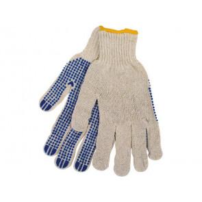 """Rukavice polyester s PVC terčíky na dlani, 10"""", velikost 10"""""""