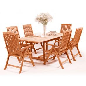 Garland Kingvan 6+ sestava nábytku z mahagonu (6x pol. křeslo Malibu, 1x stůl Solid Jati)