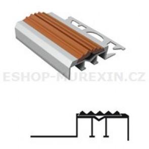 MUREXIN Profil schodový ALU s PVC vložkou MS 10 hnědá 3 m