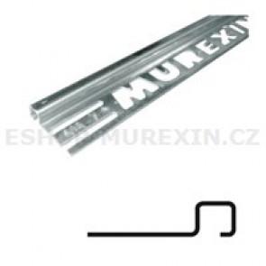 MUREXIN Profil ukončovací čtyřhranný - stříbrošedý 9mm