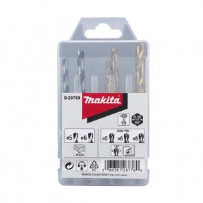 Makita sada vrtáků šestihran 1/4  5ks D-23759