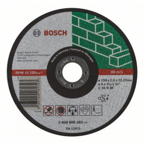 Bosch Dělicí kotouč rovný Expert for Stone C 24 R BF, 150 mm, 2,5 mm
