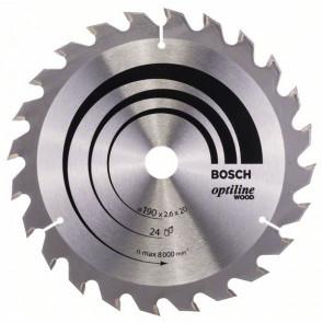 Bosch Pilový kotouč Optiline Wood 190 x 20/16 x 2,6 mm, 24