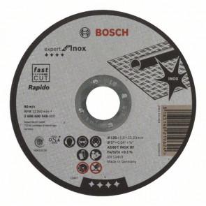 Bosch Dělicí kotouč rovný Expert for Inox - Rapido AS 60 T INOX BF, 125 mm, 1,0 mm
