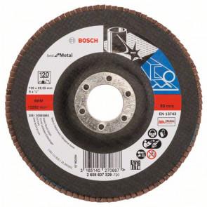 Bosch Lamelový brusný kotouč X571, Best for Metal D = 125 mm; G = 120, rovný