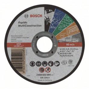 Bosch Dělicí kotouč rovný Rapido Multi Construction ACS 60 V BF, 115 mm, 1,0 mm